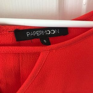 Papermoon Tops - Beautifully detailed orange blouse top